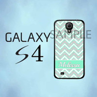 Samsung Galaxy S4 Case  Green Silver Glittery by thecasefactory