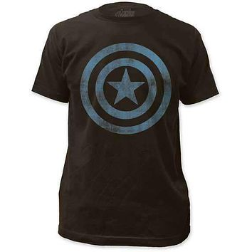 CAPTAIN AMERICA DISTRESSED ICON MENS LIGHTWEIGHT TEE
