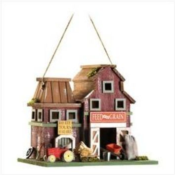 Farmstead Wood Barnyard Birdhouse (pack of 1 EA)