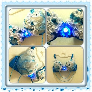 EDC inspired Light Up Bra // Butterfly Garden by NeonWonderland