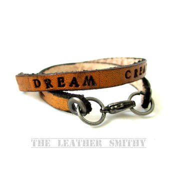 Custom Leather Bracelet, Personalized Leather Bracelet, Personalized Leather Cuff Bracelet, Hand Tooled Jewelry