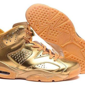 DCCKL8A Jacklish 2016 Custom Air Jordan 6 All Gold Plated For Sale