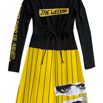 The Weeknd Beauty Behind Madness Long Sleeve Dress One