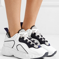 Acne Studios - Manhattan leather, suede and mesh sneakers