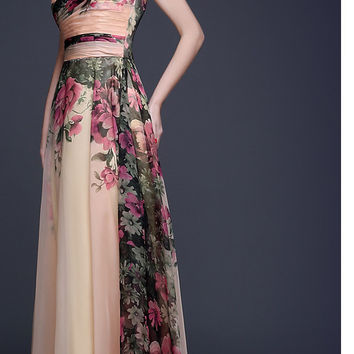 'Sacred Garden' Vintage Evening Dress