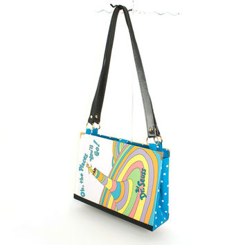 Dr. Seuss Bookpurse - Oh the Places You'll Go purse made from the book - Great gift for kid, teen, or adult