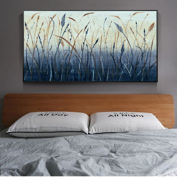 Modern Paddy Paintings On The Wall Abstract Nature Landscape Wall Art Canvas Prints Grains Pictures For Living Room Cuadros