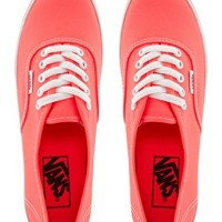 Vans Authentic Lo Pro Neon Coral Trainers at asos.com