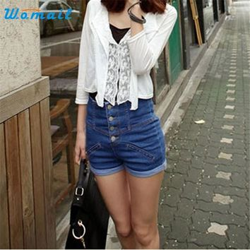 Womail The most Womens Girl Denim High Waist Lady Shorts Jeans Pants Vintage Cuffed