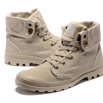 Palladium Baggy Women Turn High Boots Cream - Beauty Ticks