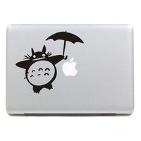 Totoro with umbrella  - Mac decals Macbook sticker Macbook pro decal Macbook air decal Aappl decal sticker