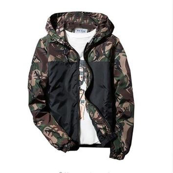 Fashion Brand Military Style Jacket Men Camouflage Patchwork Long Sleeve Jacket Streetwear Classic good quality Men coat