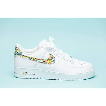 Nike Air Force 1 splattered edition shoes custom hand made