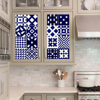 Vinyl decal sheet - Tile Decals - Tile decals for Kitchen or Bathroom Mexico, Morocco, Portugal, Spain, Mosaic #8