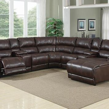 212D Caramel Brown Console 2 Per Sectional