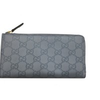 Gucci Baby Blue Leather Gg Guccissima Women's Wallet 332747