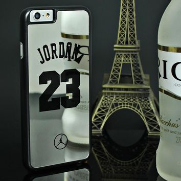 Case for iPhone 7 6 6S Plus 5 5s SE NBA brand Michael Jordan 23 fundas Hard Mirror Pho