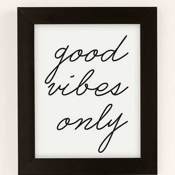 Honeymoon Hotel Good Vibes Only Art Print | Urban Outfitters