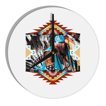 "Native American Dancer 2 8"" Round Wall Clock"