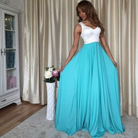 Summer Hot Sale Sleeveless Maxi Dress Sexy Prom Dress One Piece Dress [4918234052]