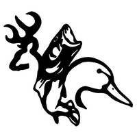Mixed Browning vinyl decal