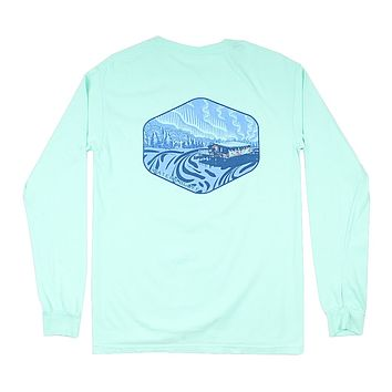 Under the Neon Long Sleeve Tee in Mint by Waters Bluff
