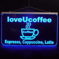 Personalized LED Edge Lit Business Sign, Business Logo - Multi-Color Changing