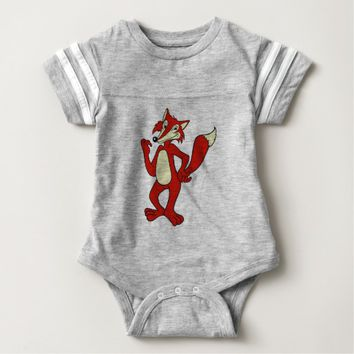 Red Fox Baby Bodysuit