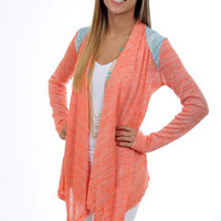 The Miley Cardigan, coral