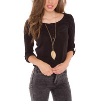 Pieces Of Me Top - Black