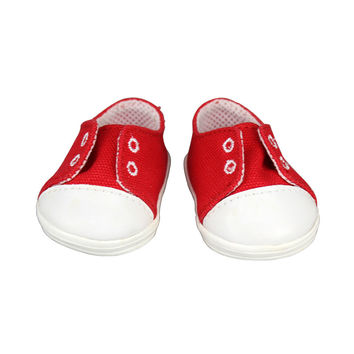 Fashion Red Shoes Fit For 43cm Baby Born Zapf 18 Inch Dolls Accessories