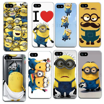5 5s soft tpu Skin Despicable Me Yellow Minion Case cover For iphone 4 4S 5 5S 5C SE 6 6s PLUS Phone cases back