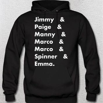 Degrassi Names list Hoodie, Unisex Mens Womans Jimmy Paige Manny Marco Spinner Emma Television TV Fans Drake