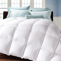 White Goose Down Alternative, Ultra Plush, Box Stitched Hypoallergenic Soft Fabric Comforter / Duvet Cover - King, Queen, XL Twin