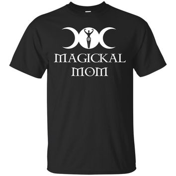 Magickal Mom Triple Moon Goddess Wiccan Witch T-Shirt