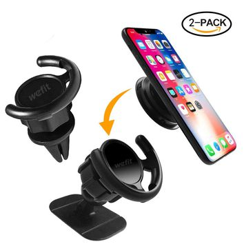 Car Mount For Pop Sockets - Air Vent - 360 Degree Rotation - Perfect for iphone ipod Galaxy HTC With Pop Socket - Easier GPS Navigation and Calling (black)