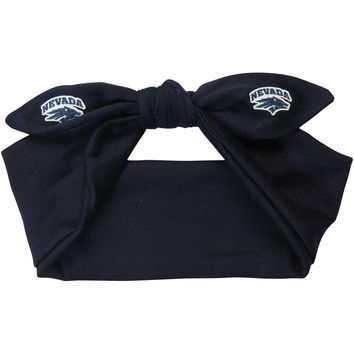 Women's Nevada Wolf Pack Knotted Cotton Bow Headband