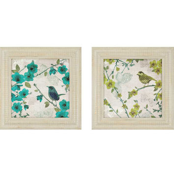 Paragon 7755 Birds by Venter Set of 2: 25  X  25 Deluxe Framed Print Reproduction