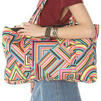 Volcom The Rebellion Tote in Neon Pink : Karmaloop.com - Global Concrete Culture