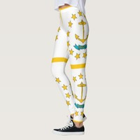 Leggings with flag of Rhode Island, USA