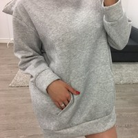 James Sweater Dress (grey)