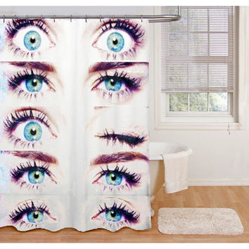 Miley Cyrus Eyes Custom Shower Curtain