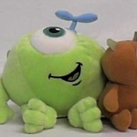 "Disney Monsters Inc. 7"" Mike Wazowski with Little Mikey Kid Plush By the Disney Store"