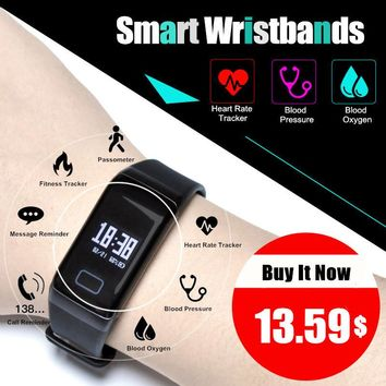 F1 Smart Band Blood Oxygen Blood Pressure Watches Fitness Sport Bracelet Heart Rate Monitor Call/SMS Reminder pk fitbits miband2