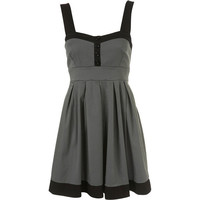 Pleated Pinafore Dress by Wal G**