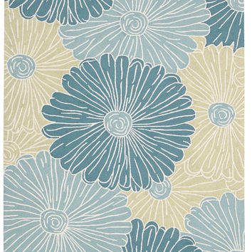 Nourison Fantasy Seafoam Area Rug FA25 SFM (Rectangle)