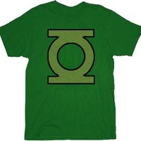 Green Lantern Green Emblem Green Adult T-shirt - Shirts Sheldon Has Worn - | TV Store Online