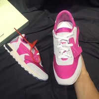 OFF-WHITE Women Fashion Sport Sneakers Shoes Pink