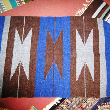 PERSIAN CARPET small rug genuine afghan baluch sindh multan 2.5x4 table mat kilim wool geometrical affordable new bed living room blue patu