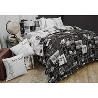 Passport Reversible Duvet Cover Set, 100% Cotton - Bed Bath & Beyond